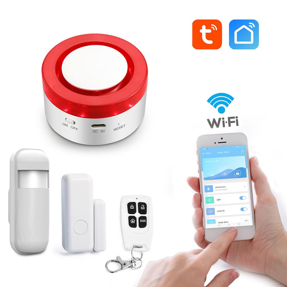 Smart Wi Fi 433mhz Strobe Siren Security Alarm System