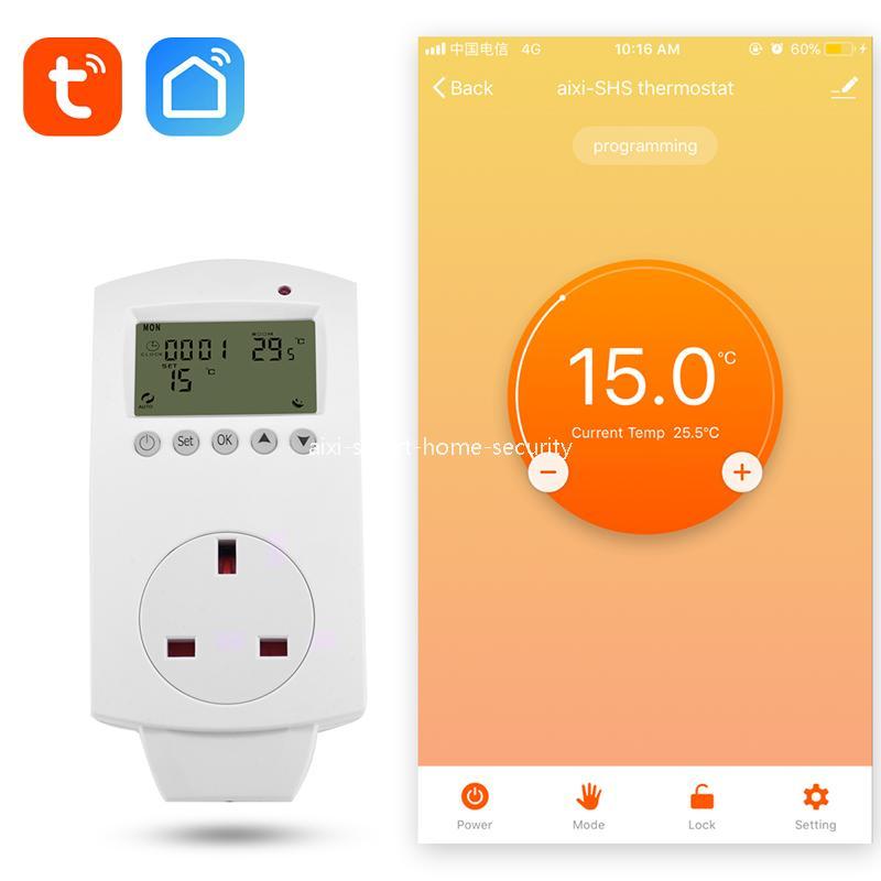 Aixi Shs Wireless Wi Fi Thermostat Uk Plug Electric