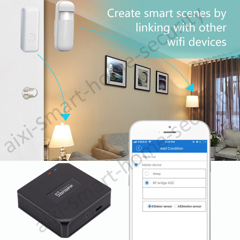 Smart Wi-Fi 433Mhz Indoor Siren Security Alarm System Sonoff